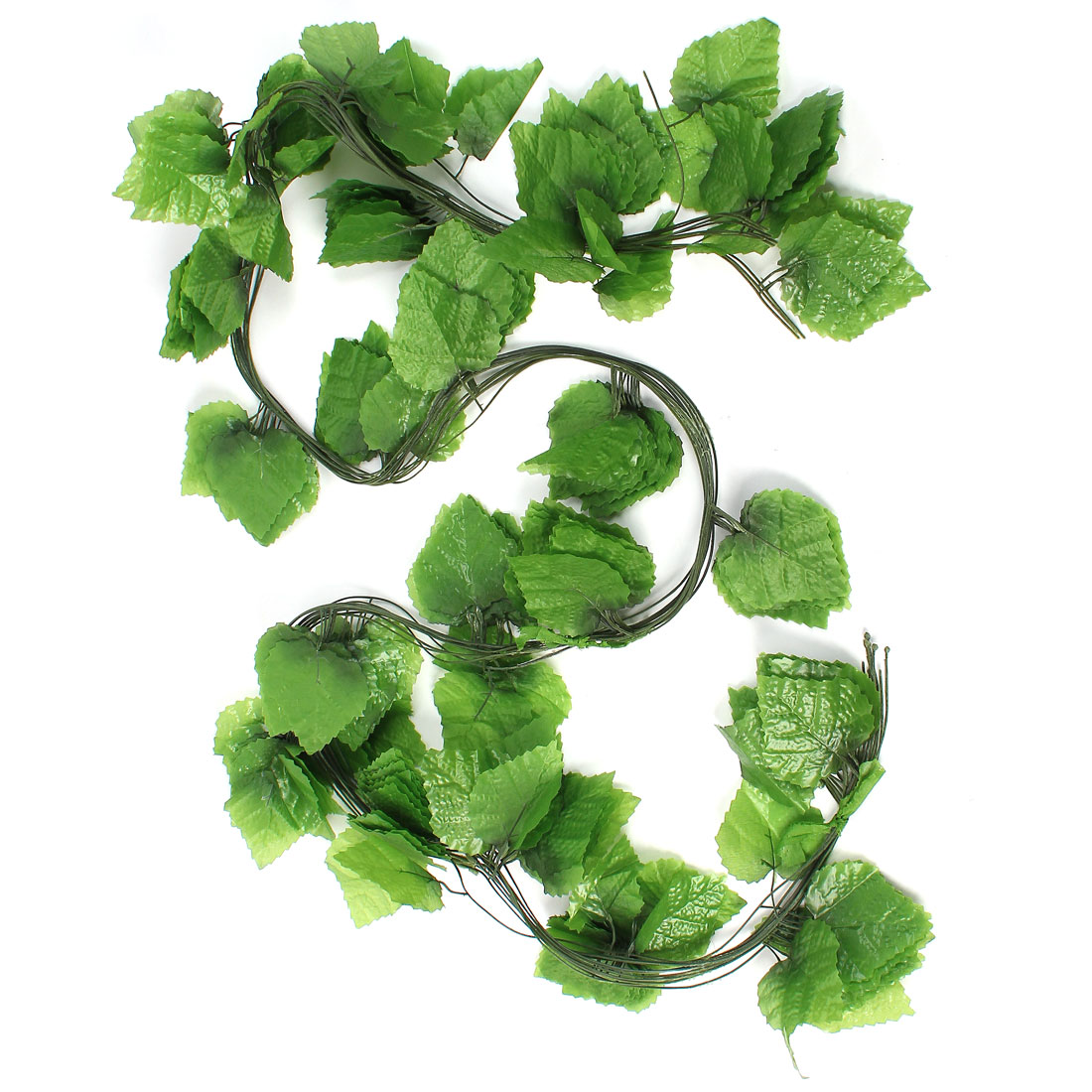 12 Pcs 2.5M Long Artificial Green Fabric Grape Leaves Decoration