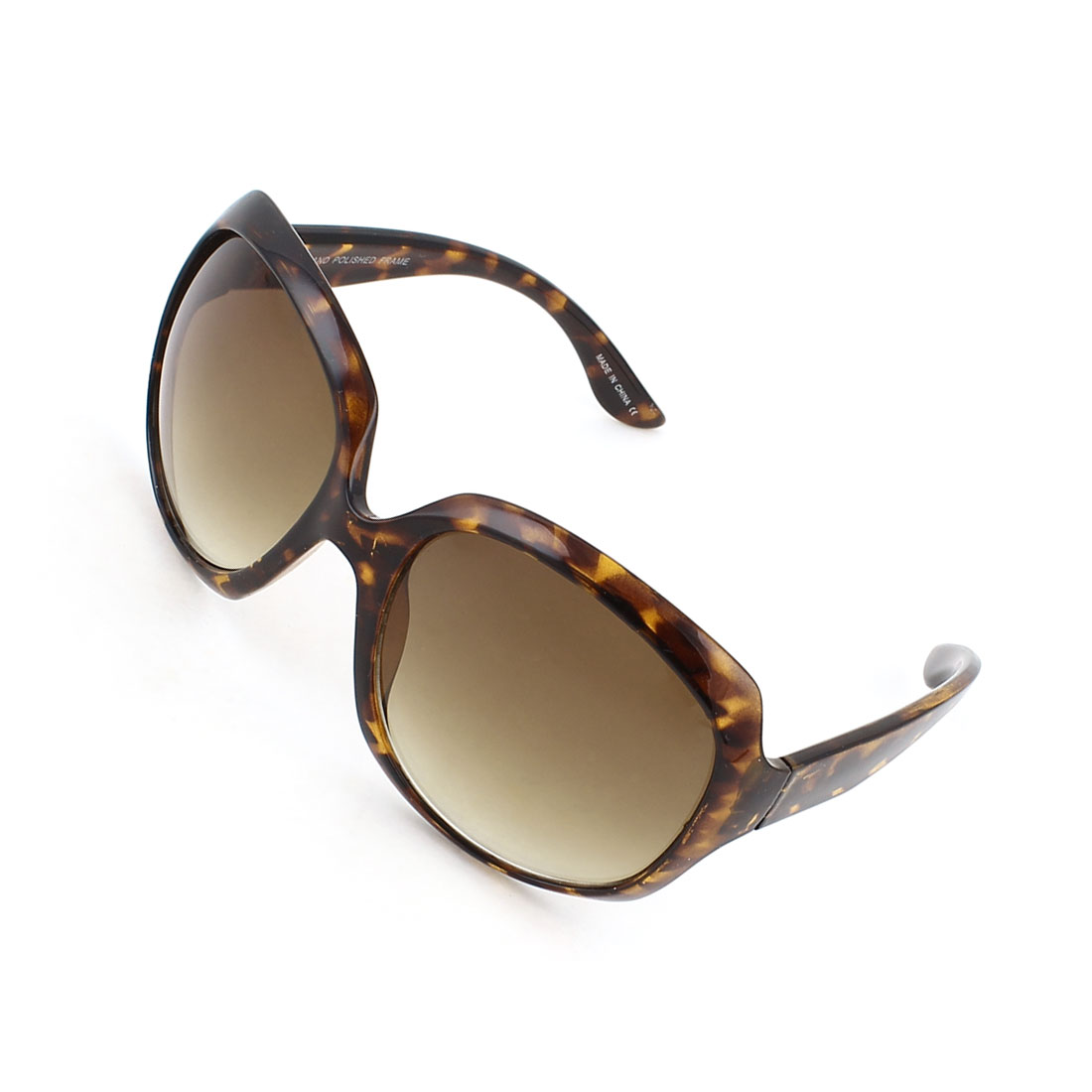 Women Leopard Pattern Full Frame Brown Lens Sunglasses Eyeglasses
