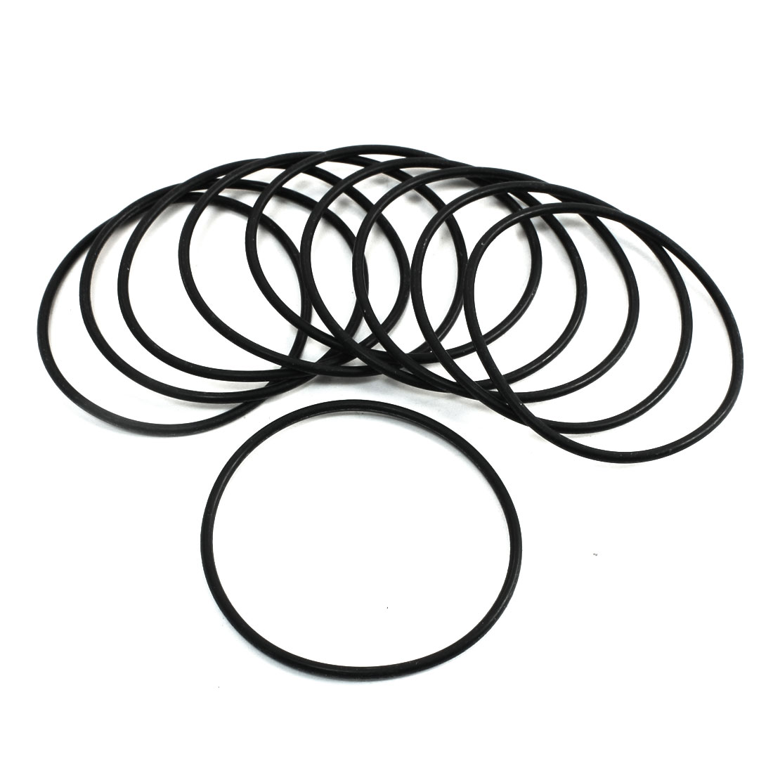 10Pcs 62mm x 2.4mm Black Rubber Oil Seal O Rings Gaskets Grommets