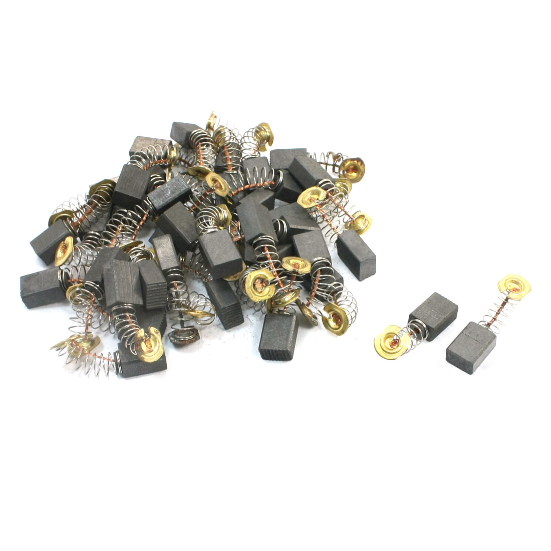 "40Pcs Angle Grinder Parts Motor Carbon Brushes 31/64""x9/25""x15/64"" 411#"
