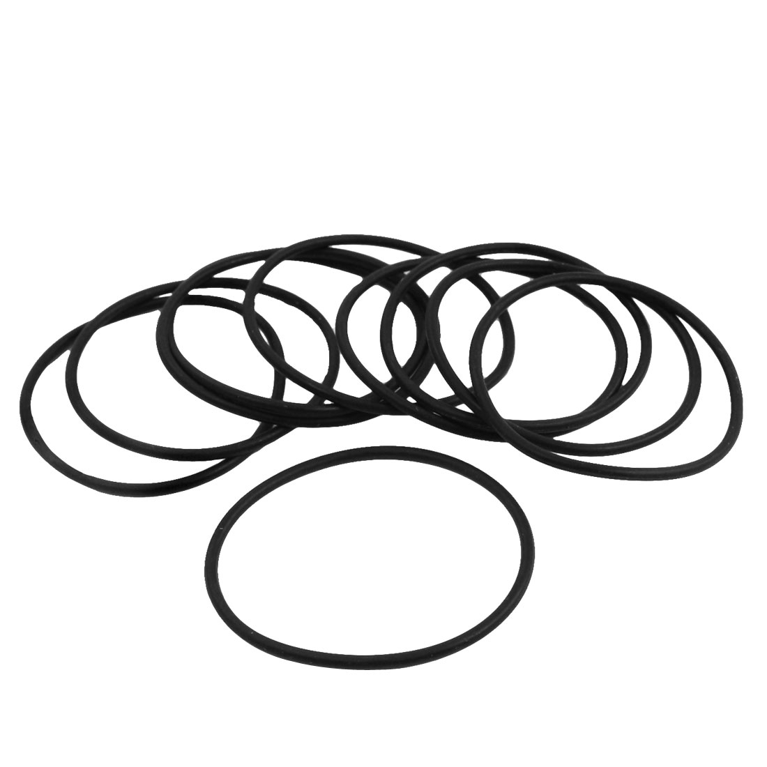 10Pcs 38.7mm Outside Dia 1.8mm Thick Rubber Oil Filter Seal Gasket Black