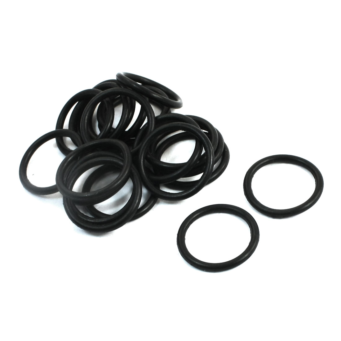 20PCS Electric Power Tool Part Black Rubber Oil Seal O Rings 17.6x1.8mm