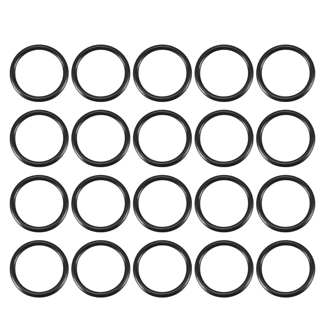 20Pcs 20mm x 16mm x 2mm Black Rubber Oil Sealed Filter O Rings Washers
