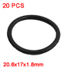 20PCS Black Rubber Oil Seal O Ring Sealing Gasket Washers 20.6mm x 1.8mm