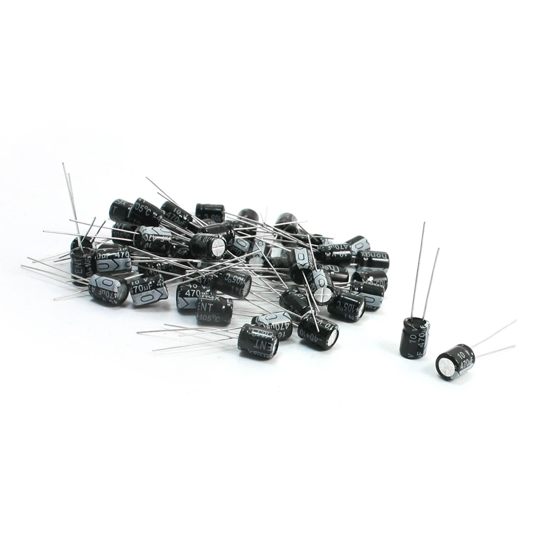 6mm x 8mm Through Hole Aluminum Electrolytic Capacitor 10V 470uF 50Pcs