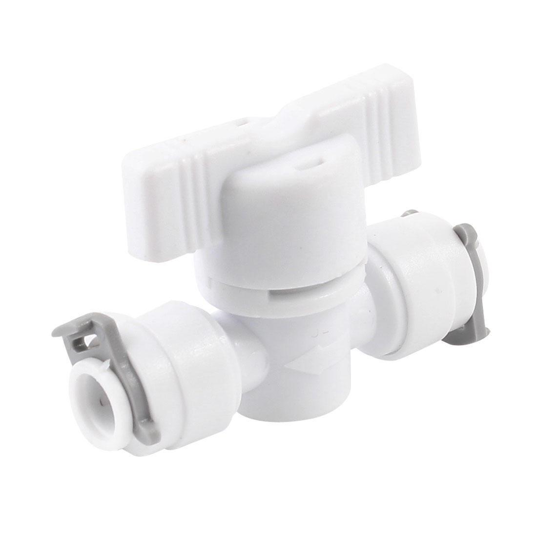 1/4 Turn Lever White Plastic 7mm Hose Tee Handle Ball Valve