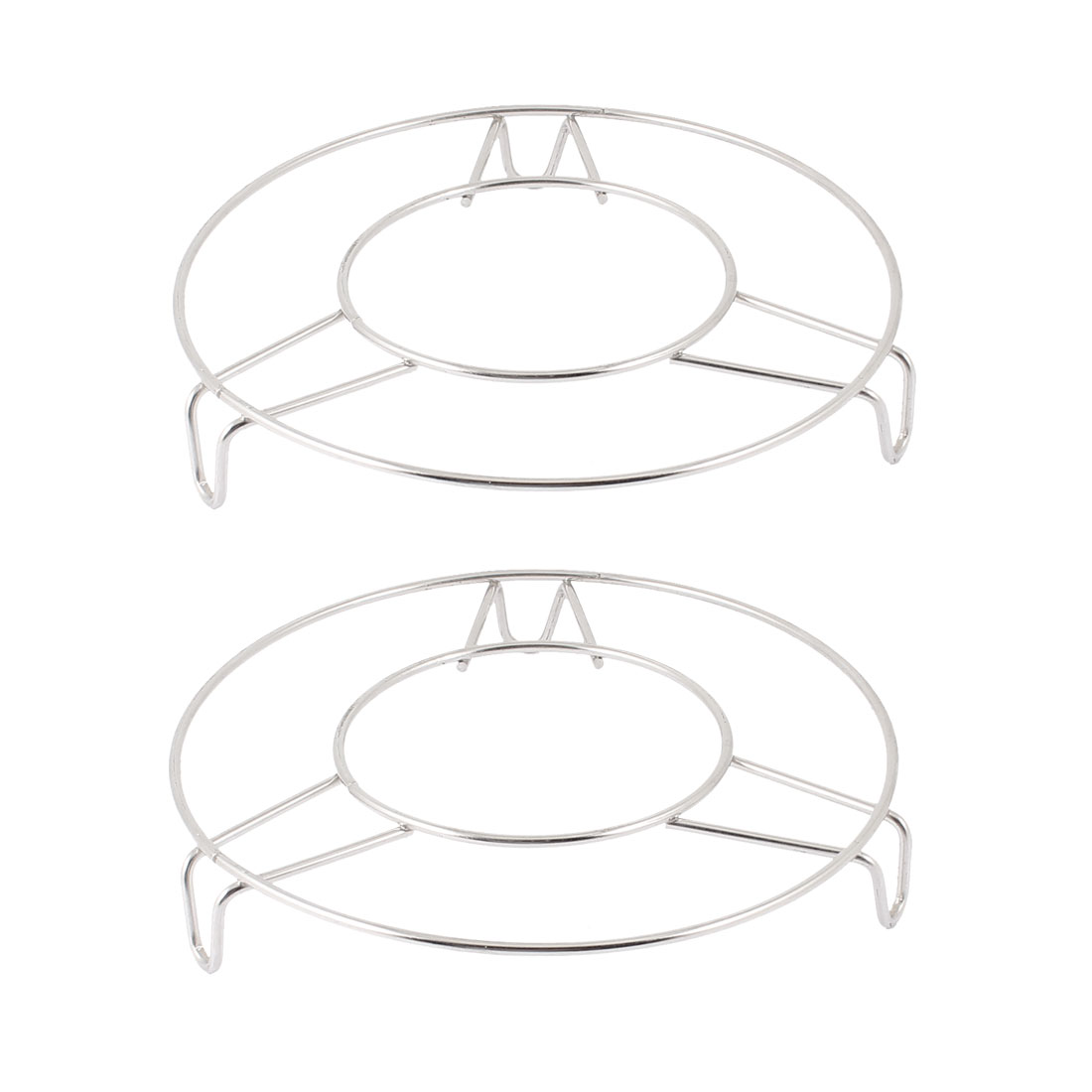 "Home Kitchen Cooking Stainless Steel 6"" Diameter Round Steamer Rack Stand 2 Pcs"