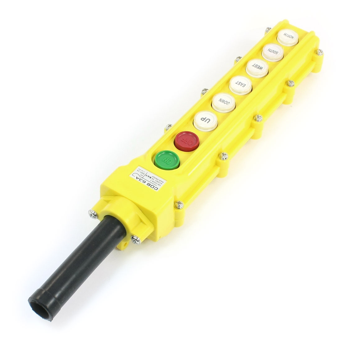COB63A Emergency Stop 6Way Rainproof Push Button Switch for Hoist Crane