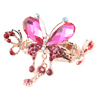 Lady Pink Plastic Crystal Decor Butterfly Shape Hairpin Hair Claw Clip