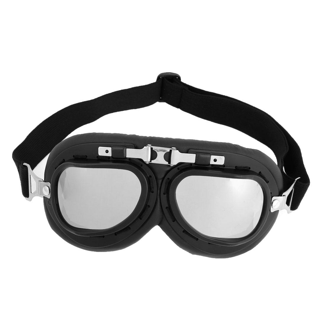 White Lens Skateboard Ski Skiing Goggles Eyewear Protective Glasses Black Rim