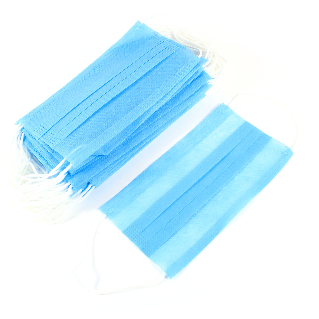 Stretchy Ear Loop Anti Dust Disposable Face Mask 17.5cm Length 150 Pcs