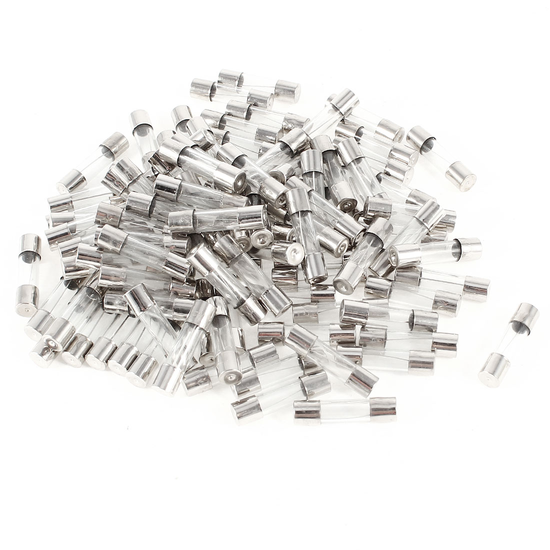 100 Pcs 250V 10A Electronic Fast Blow 5mm Dia 20mm Length Glass Fuse Tube