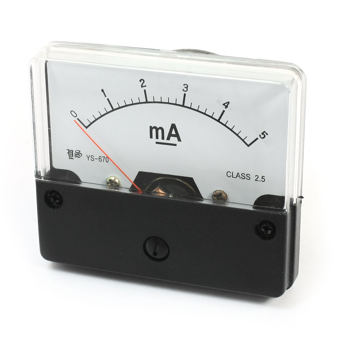 DC 0-5mA Range Rectangle Panel Gauge Ammeter Amperemeter for Lab