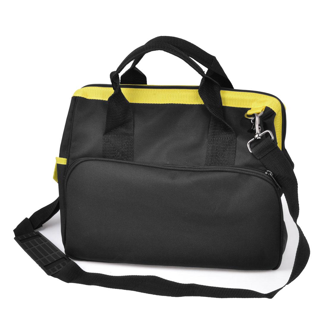 Adjustable Shoulder Strap Black Yellow Electrician Tools Shoulder Bag