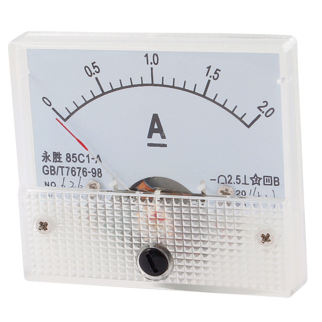 85C1-A Class 2.5 Accuracy DC 0-2A Analog Ammeter Current Panel Meter Gauge Tool