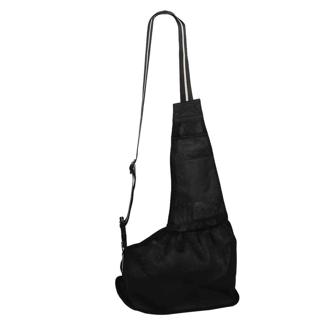Oxford Cloth Adjustable Belt Tote Pet Singel Shoulder Carrier Bag Black S