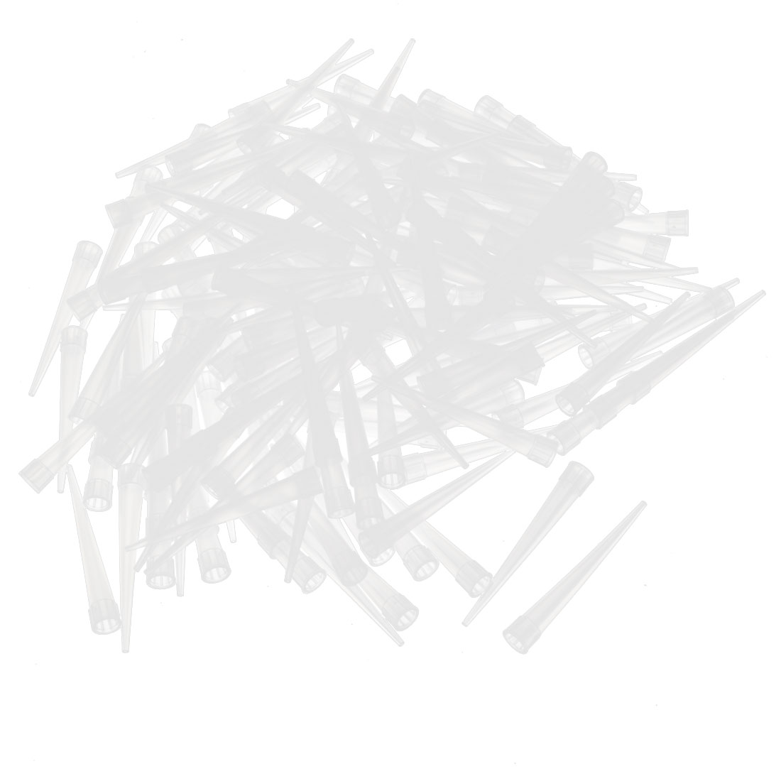 1000 Pcs Clear White Plastic Pipet Tips for Pipettor Pipette 250ul