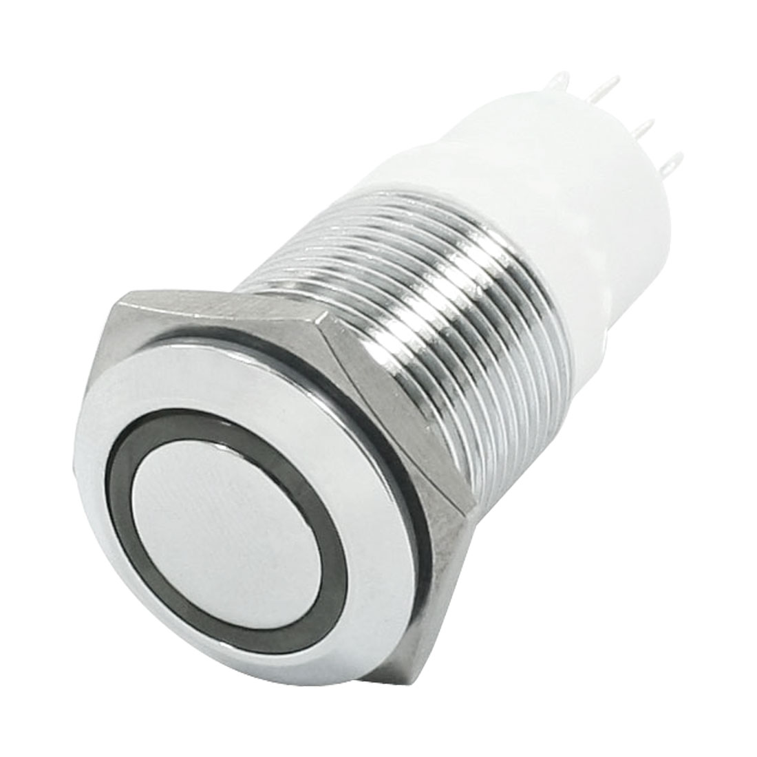 16mm 24V Red LED Angle Eye SPDT Stainless Steel Momentary Push Button Switch