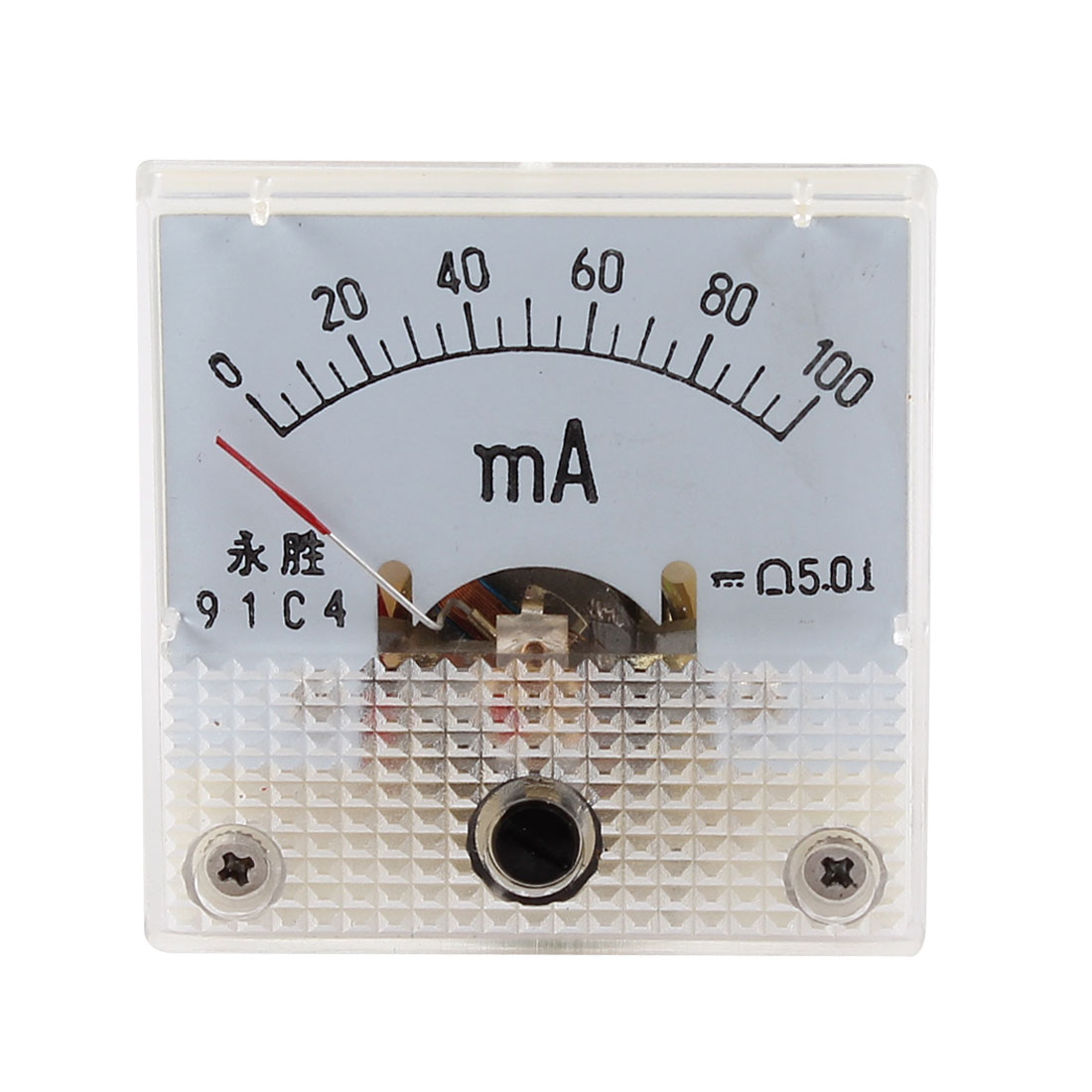 Fine Turning Dial AC 0-100mA Analog Ammeter Panel Meter 91C4