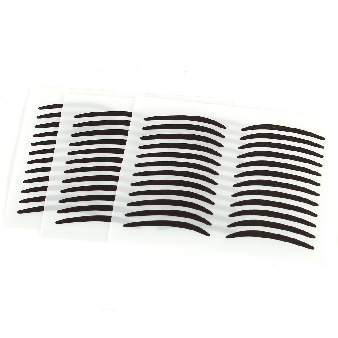 Women Beauty Cosmetic Tool Black Adhesive Double Eyelids Tape 36 Pairs