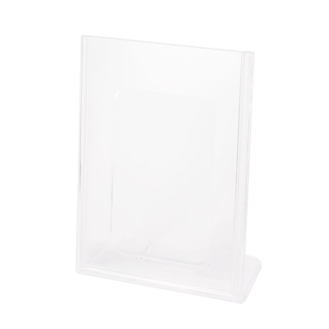 "5"" x 3.5"" Plastic Vertical Table Sign Card Display Clip Holder Clear"