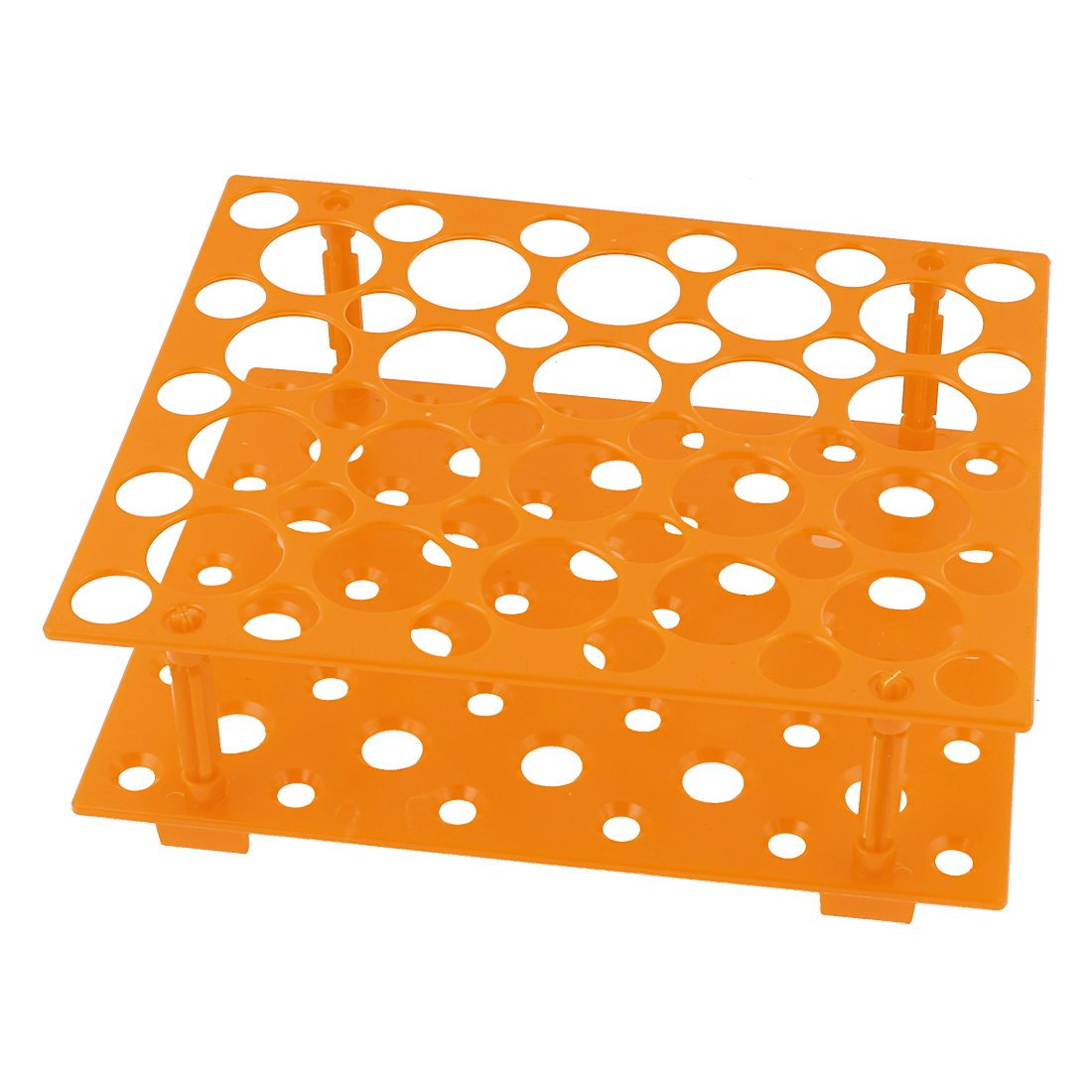 Laboratory Orange 50 Test Tubes 30mm 15mm Tubing Holder Stand Rack