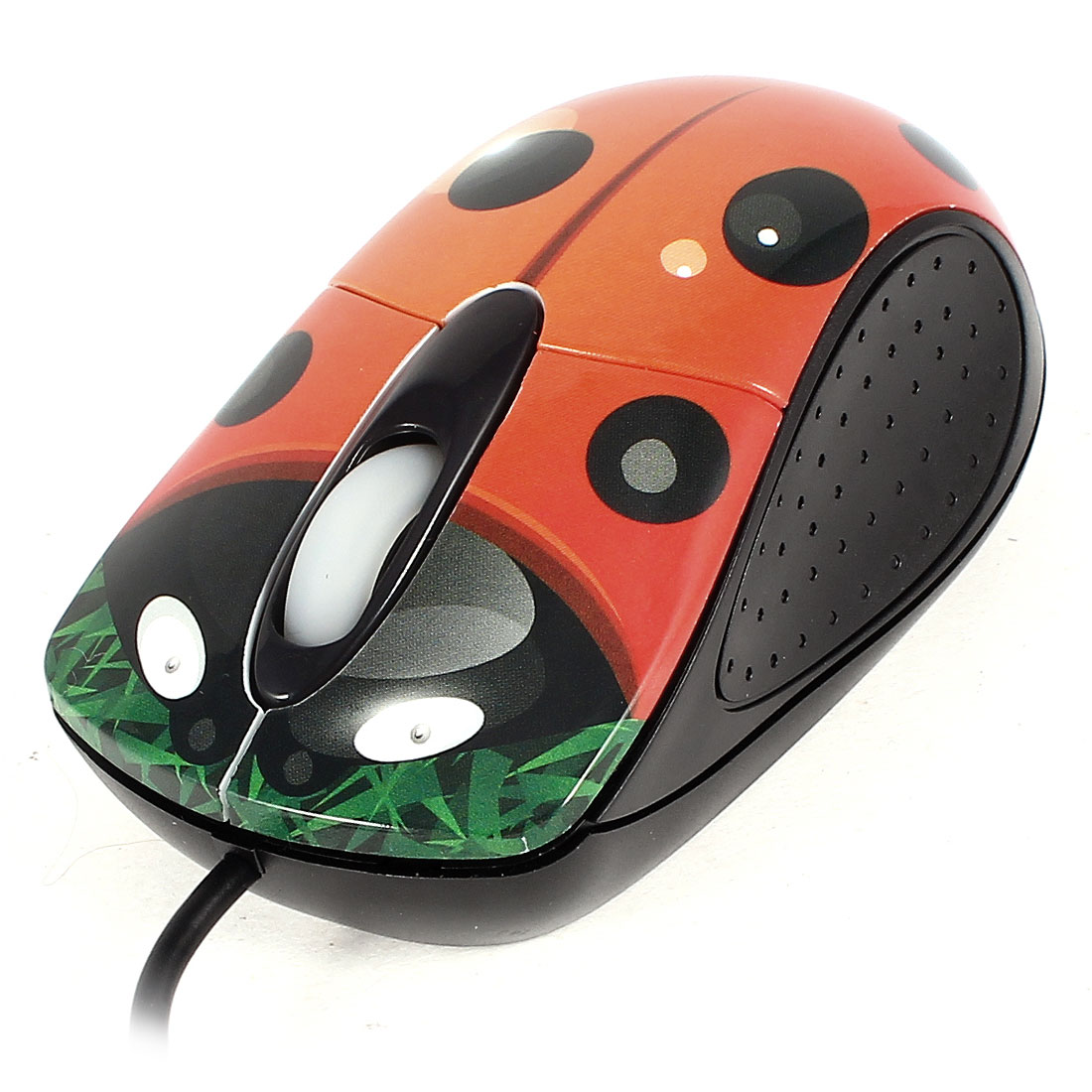 USB 2.0 3D 800DPI Wired Optical Mouse Black Orange for Notebook