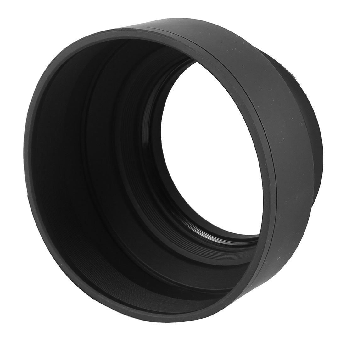 Foldable 3 Way 73m Screw-in Mount Soft Rubber Lens Hood for SLR Digital Camera