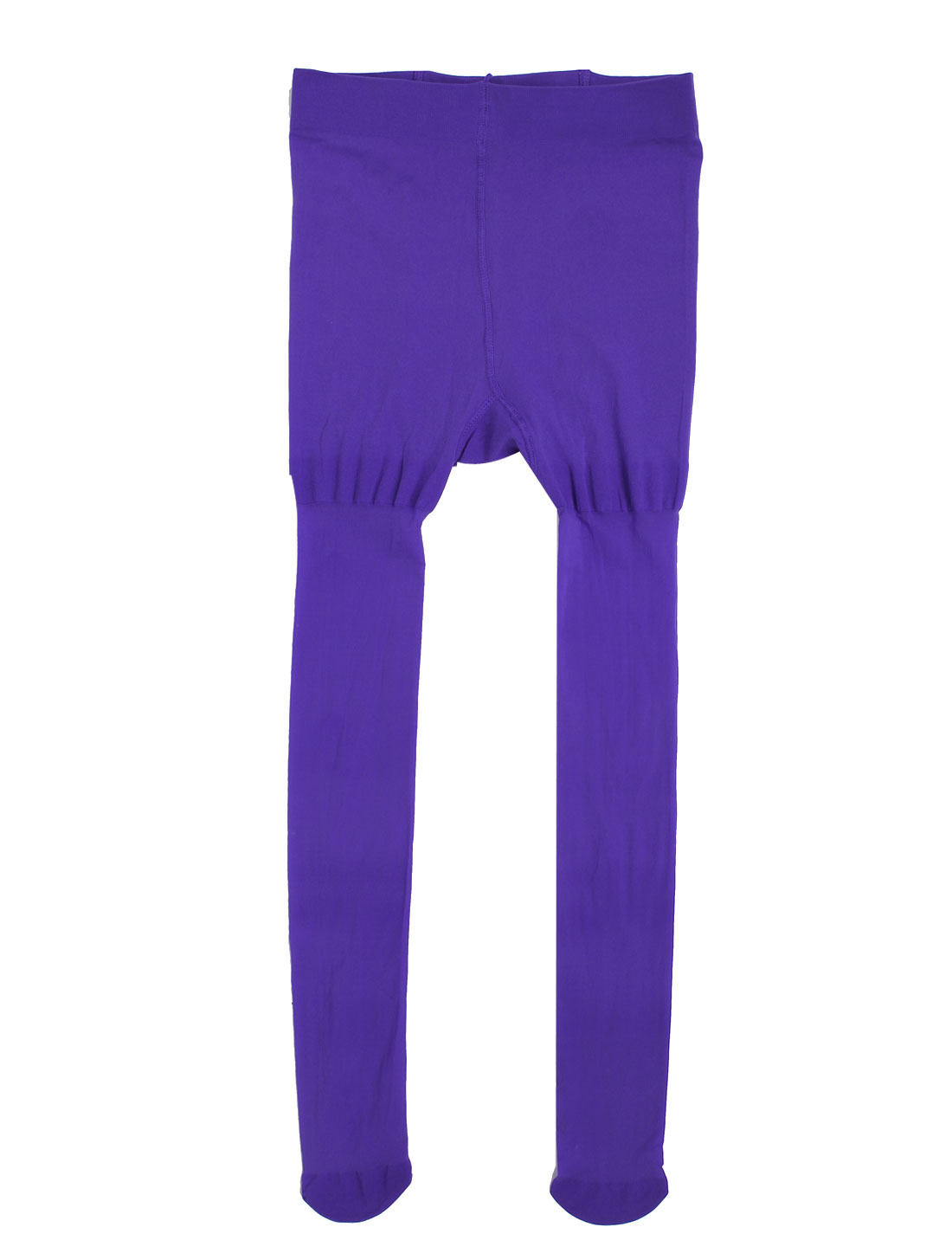 Ladies Close Fitting Footed Pantyhose Tights Leggings XS Purple