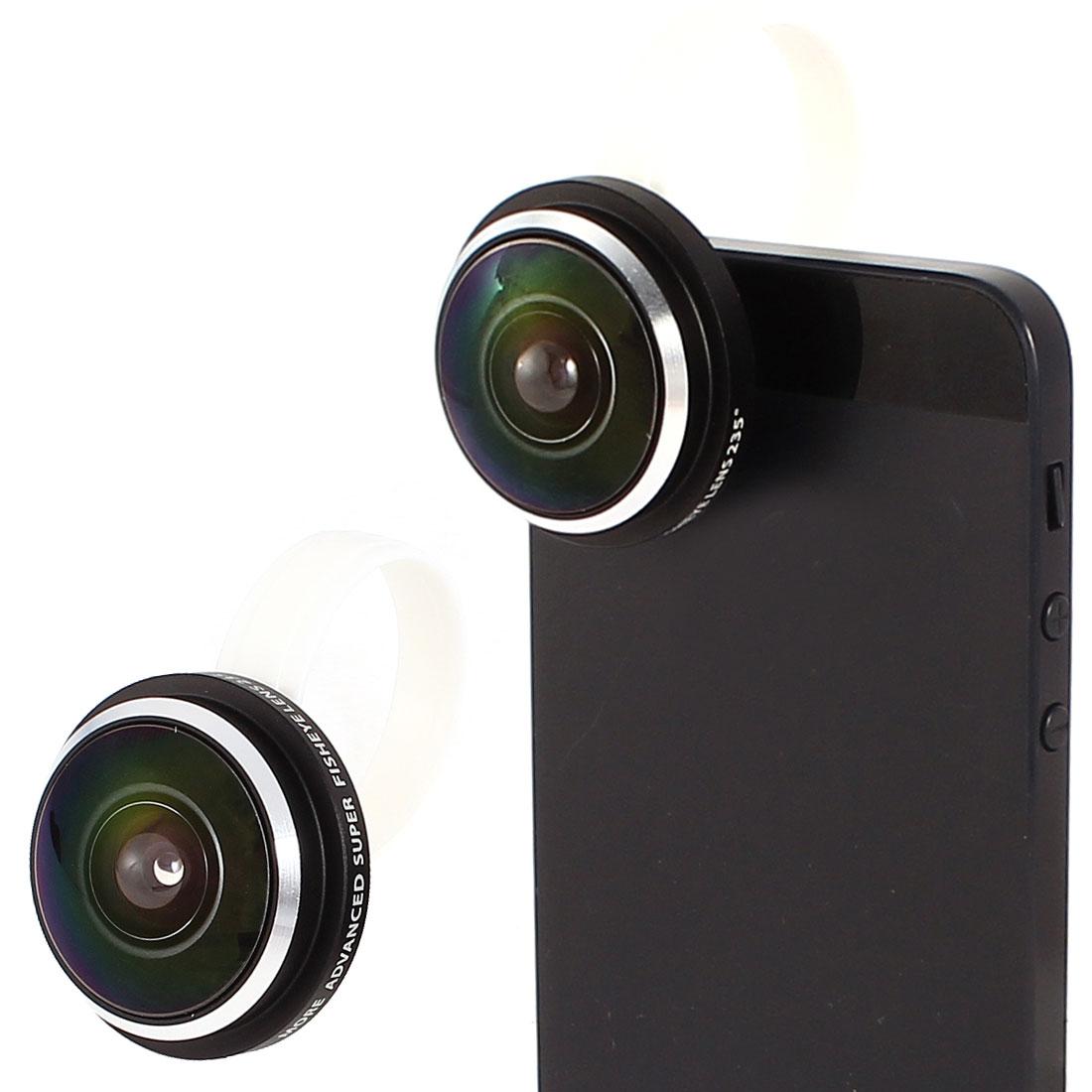 Screw-on Detachable 235 Degree Fish Eye Camera Lens for Mobile Phone