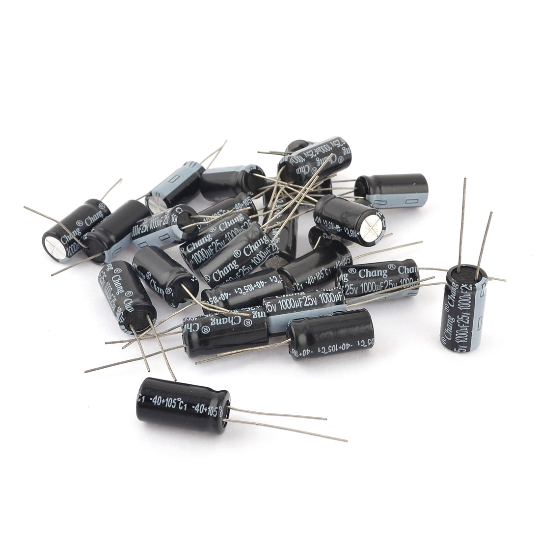 25 Pcs 10mmx20mm 1000uF 25V Polarized Radial Electrolytic Capacitor