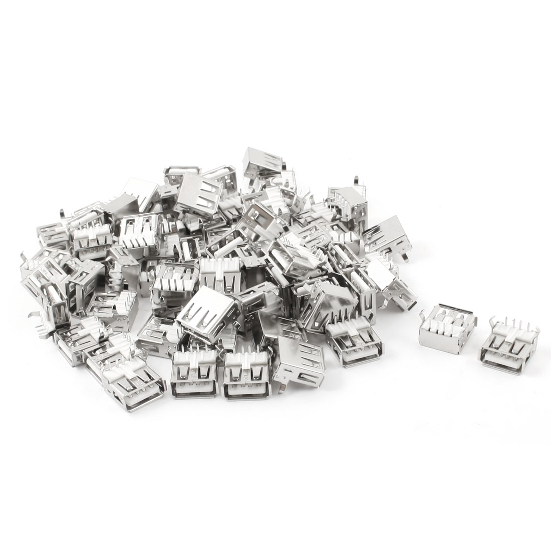 70 Pcs USB Type A Female 4 Pin Right Angle Jack Plug Solder Connectors