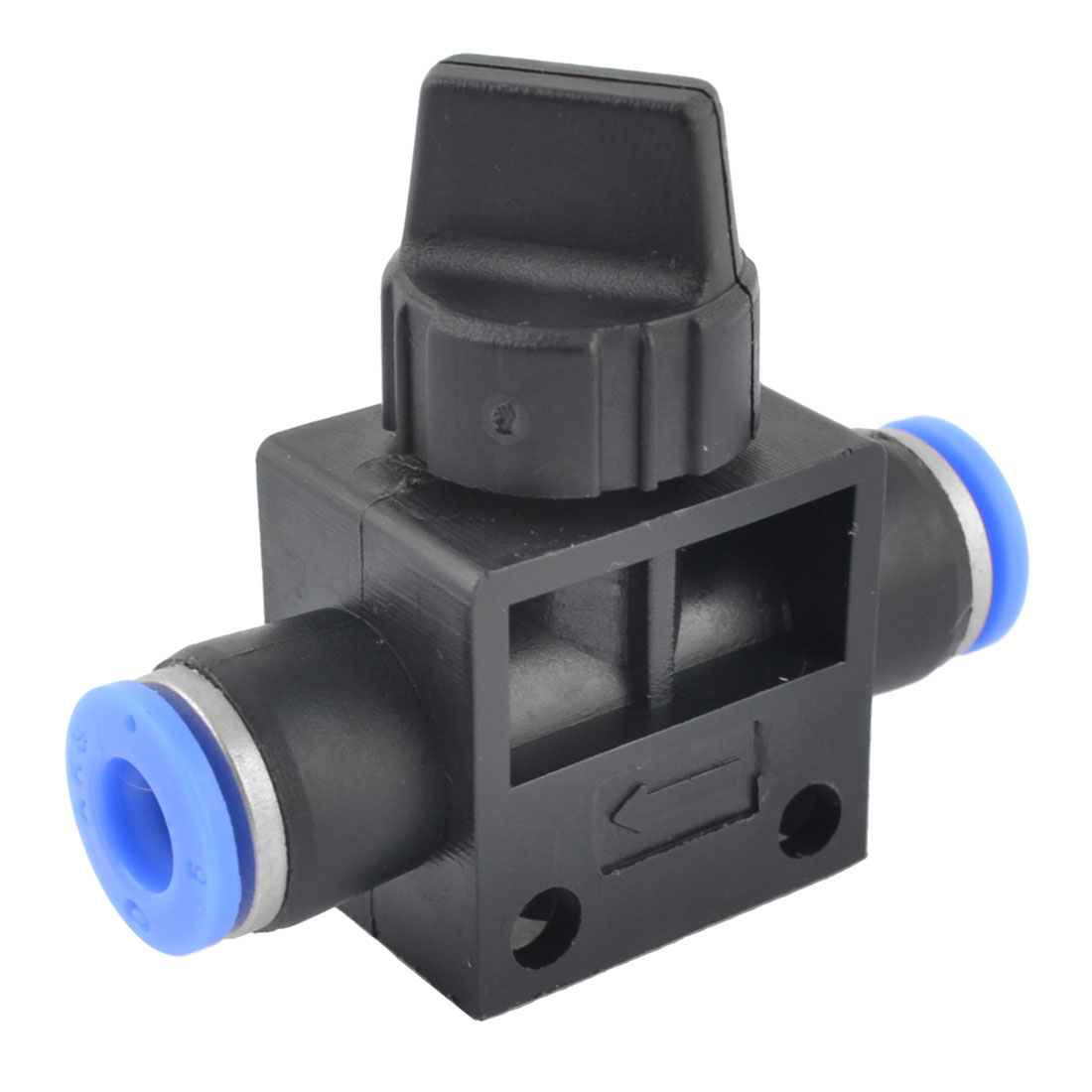 Quarter Turn Switch Blue Black Plastic 6mm Hose Pipe Fitting Coupler Ball Valve