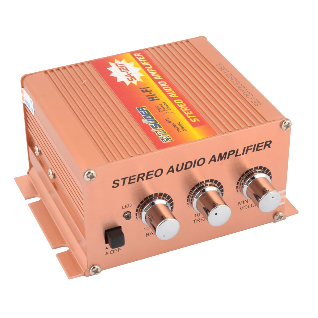 DC 12V 500W Car Copper Color Aluminum Stereo Audio Amplifier