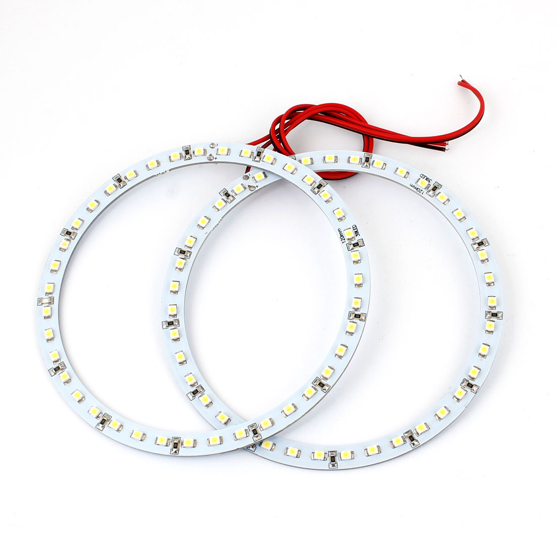 Car Auto White 12cm Dia 1210 3528 SMD 39 LED Angel Eyes Ring Light 12V 2 Pcs