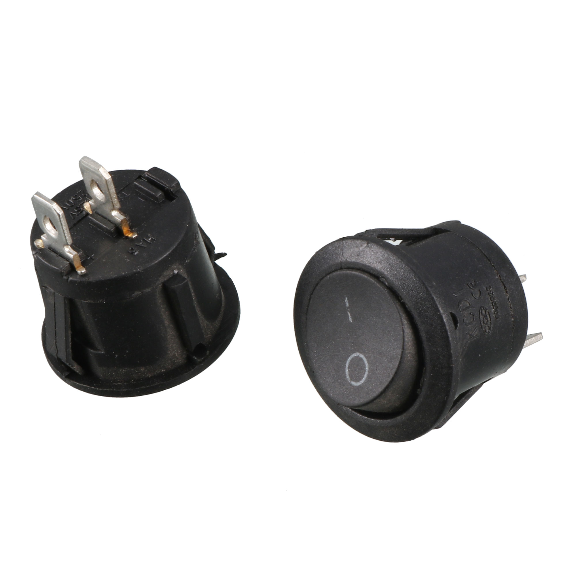 AC 250V 6A/10A SPST ON/OFF Snap In Boat Rocker Switch 2 Pcs