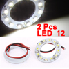 2 Pcs 40mm Angel Eyes Headlight 12 1210 SMD LED Ring Lamp Car Light White 12V