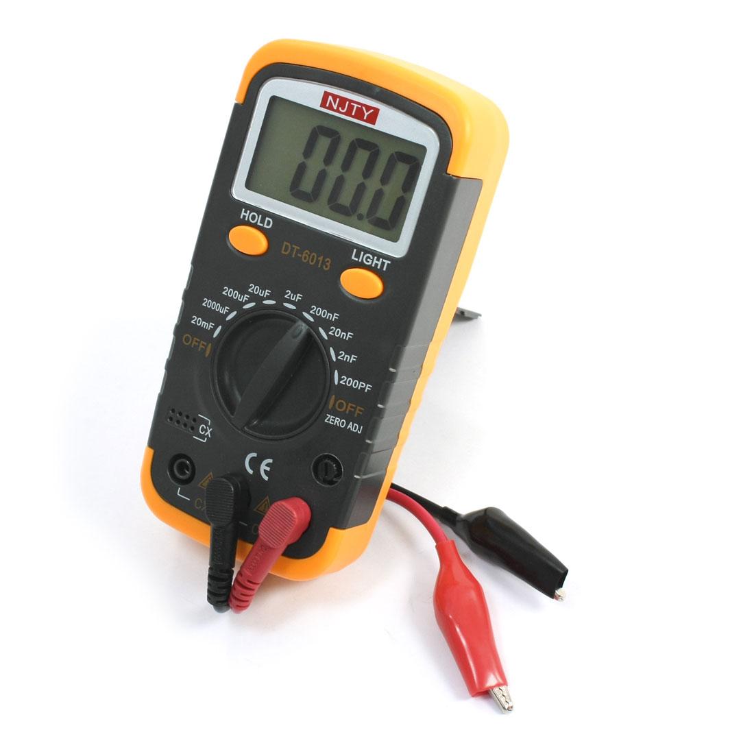 DT-6013 LCD 200PF-20mF Range Capacity Tester Digital Capacitance Meter