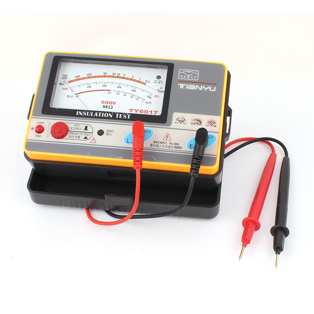 Automatic Alarm Volt Measurement Analog Insulation Resistance Tester
