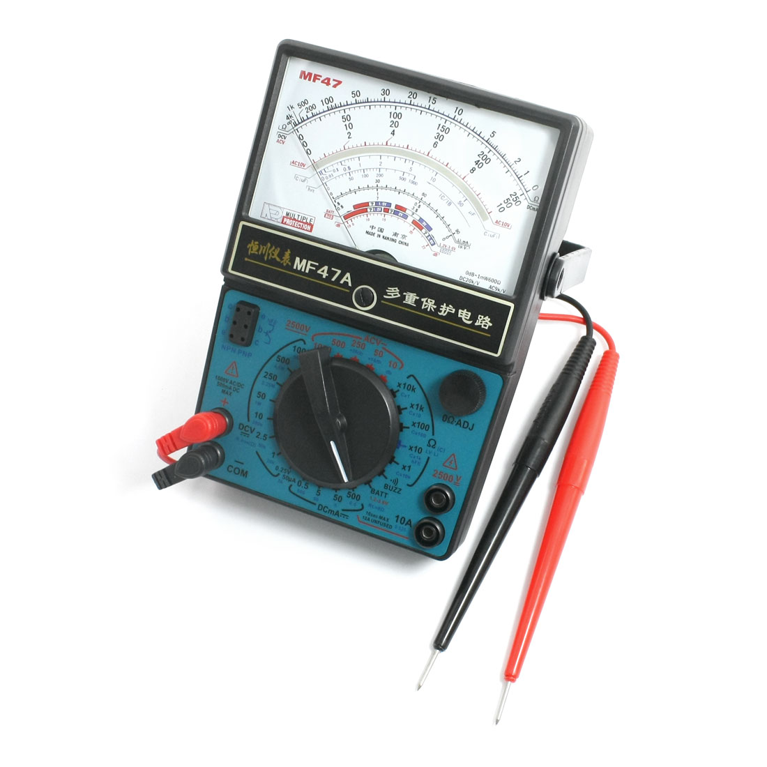AC/DC Voltage Test Multiple Protection Pointer Multimeter w Testing Lead