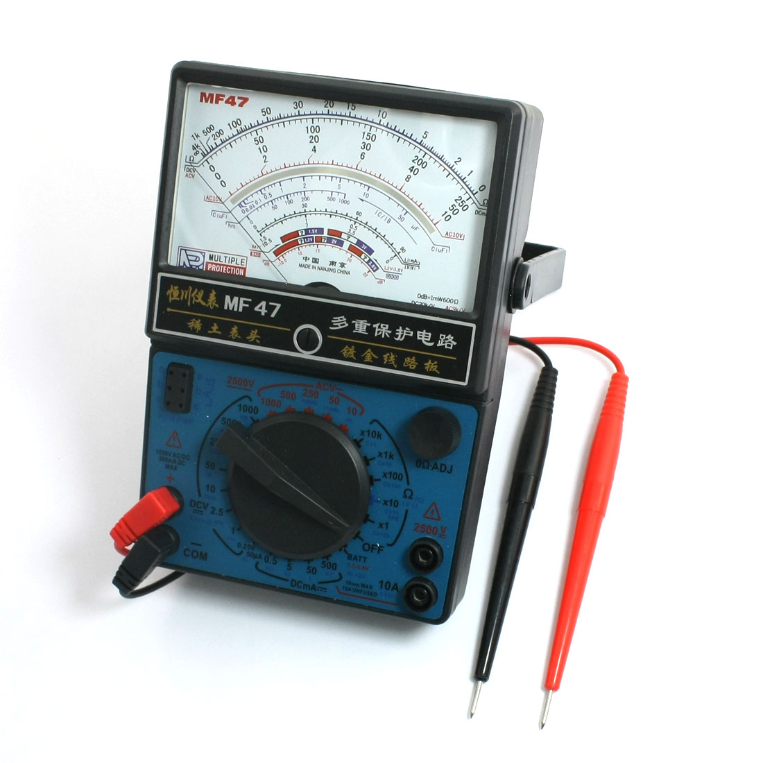 Battery Powered Capacitance Infrared Signal Testing Pointer Multimeter
