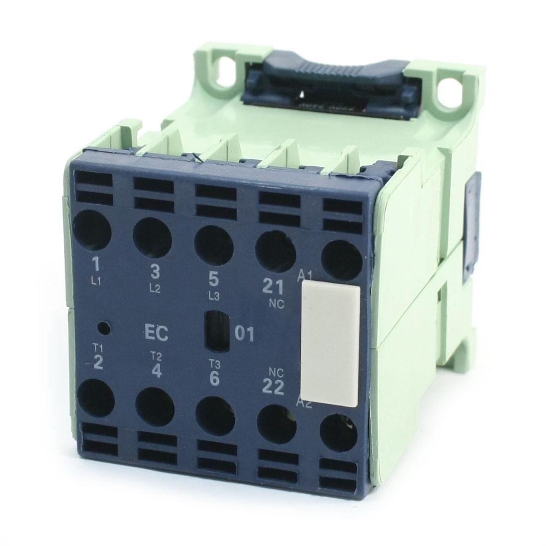 220-240V Coil Motor Controler AC Contactor 3P 3 Pole 1NC 9A CJX2-0901E