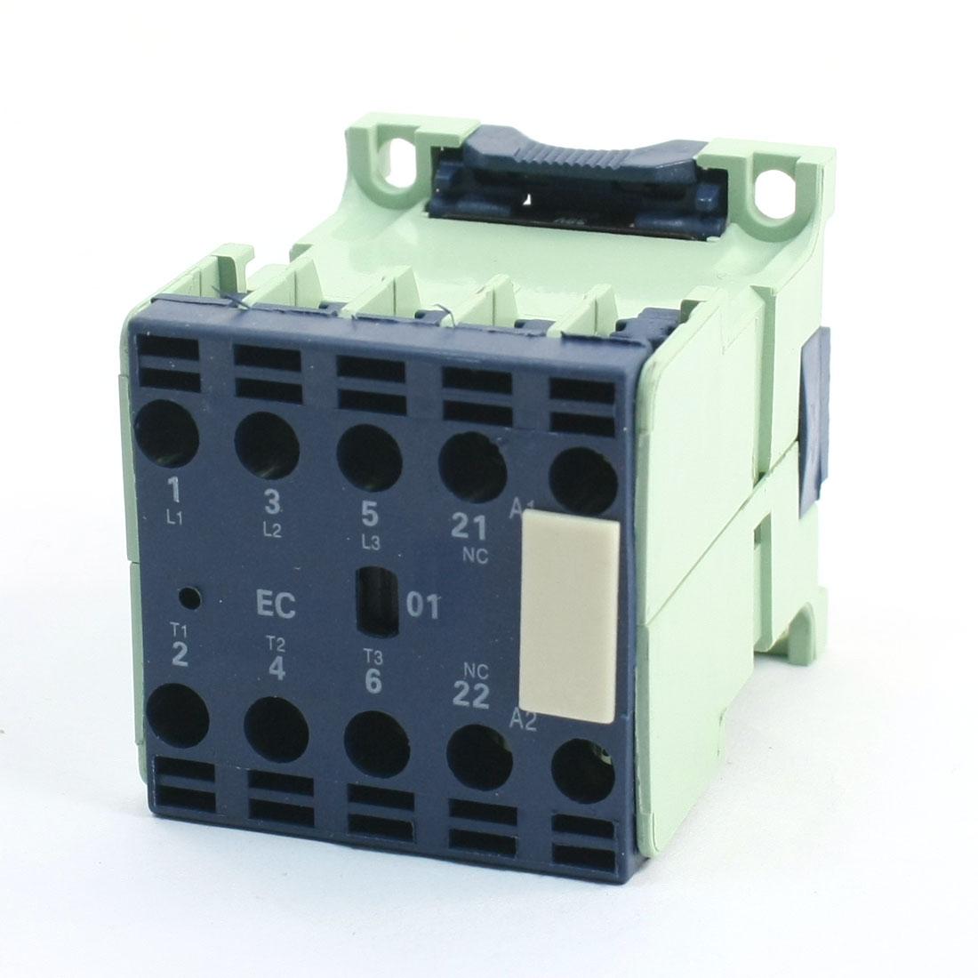 CJX2-1201E Miniature AC Contactor 36V 50/60Hz Coil 12A 3Phase 1NC