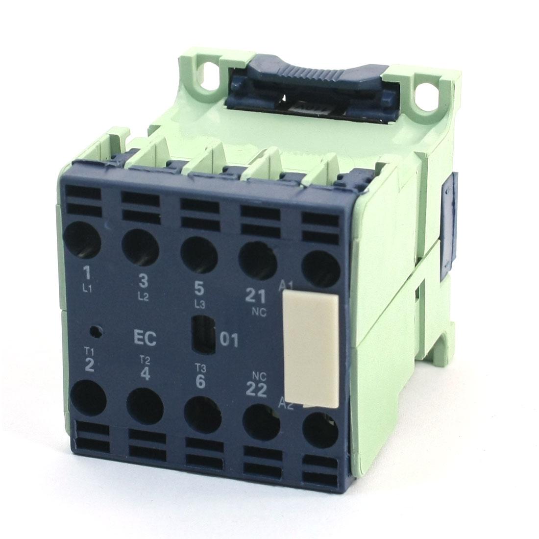 CJX2-1201E 12Amp 3 Poles 3P 1NC DIN Rail AC Contactor 110V Coil