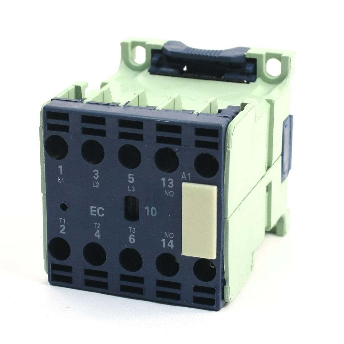 220-240V 50/60Hz Coil 3P + 1NO DIN Rail Mounted AC Contactor CJX2-0610E