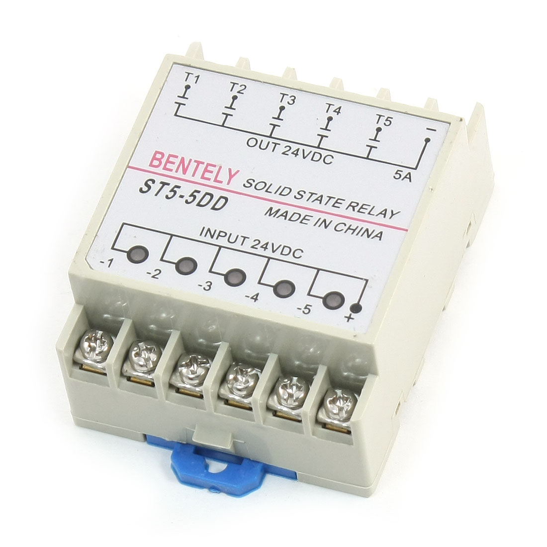 ST5-5DD SSR 12 Terminals Five Phase DC to DC 24V 5A Solid State Relay