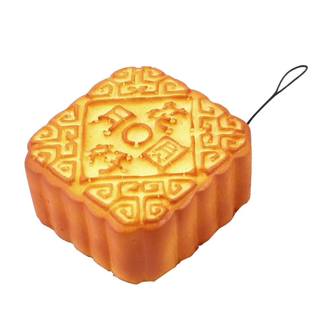 Home Brown Beige Artificial Square Mooncake Table Decoration Ornament