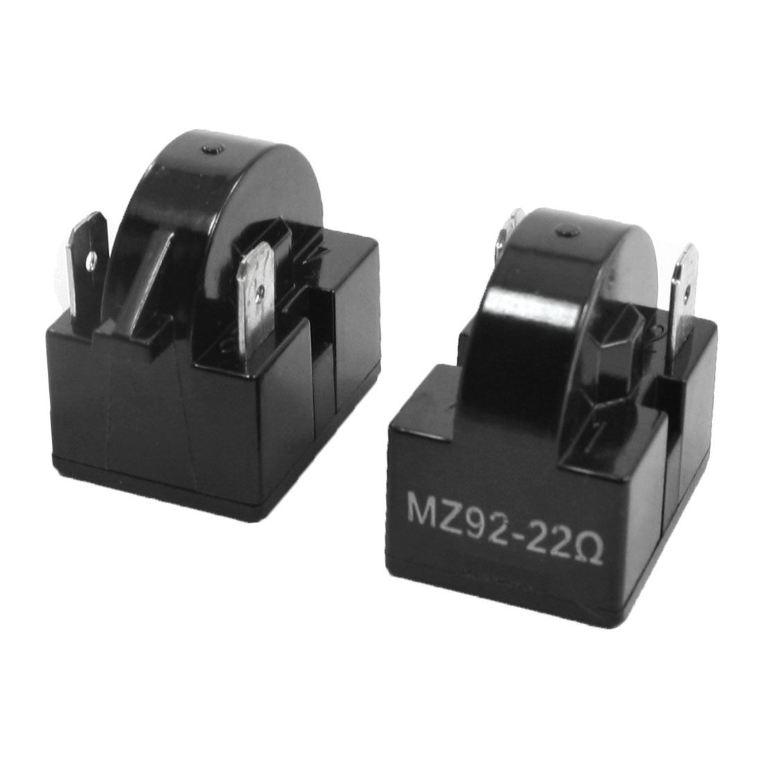 2Pcs MZ92 22 Ohm 2 Terminals PTC Starter Relays for Refrigerator