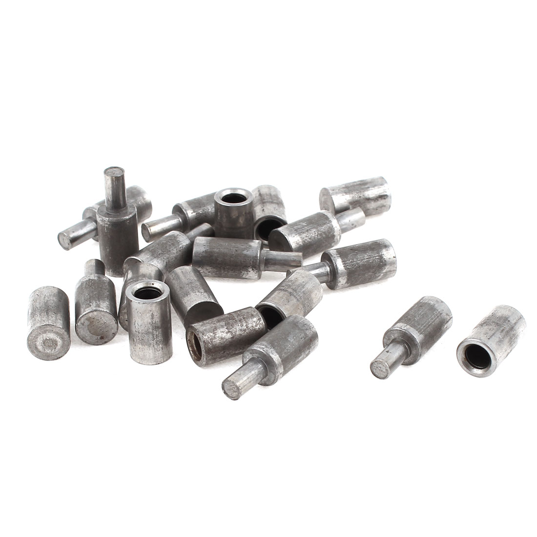 10 Pairs Home Door Window Part Male to Female M/F Cylinder Shaped Metal Grease Hinge Pin 32mm x 9mm