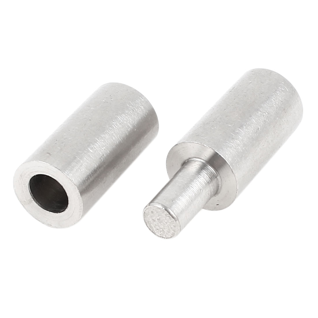Home Door Window Part Male to Female M/F Cylinder Shaped Stainless Steel Grease Hinge Pin 45mm x 11mm